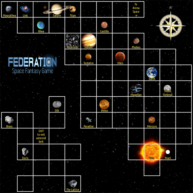 Maps for Federation 2 - space fantasy trading game
